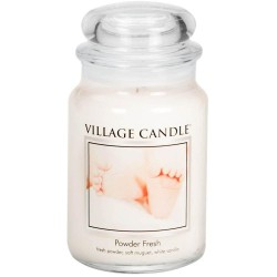 Village Candle Powder Fresh Large Jar Glass