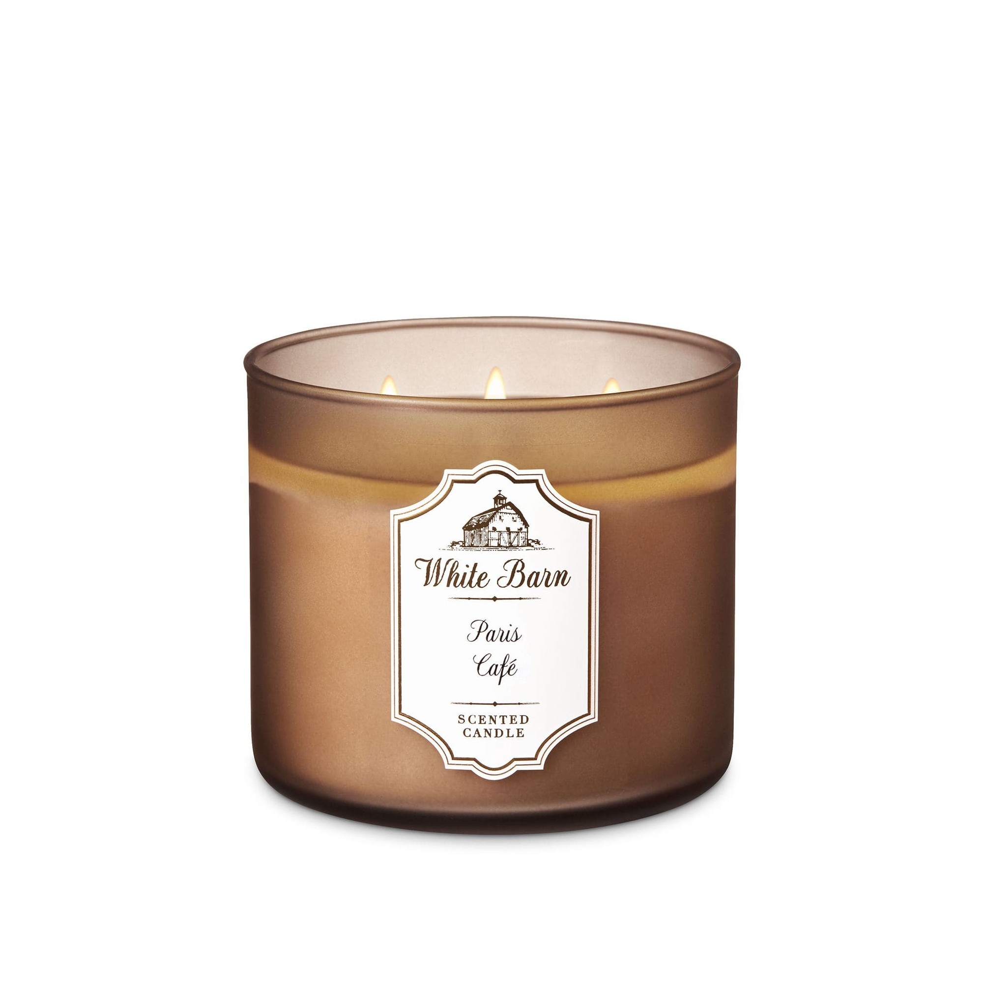 Bath & Body Works White Barn Paris Café 3 Wick Scented Candle