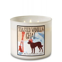 Bath & Body Works Toasted Vanilla Chai 3 Wick Scented Candle