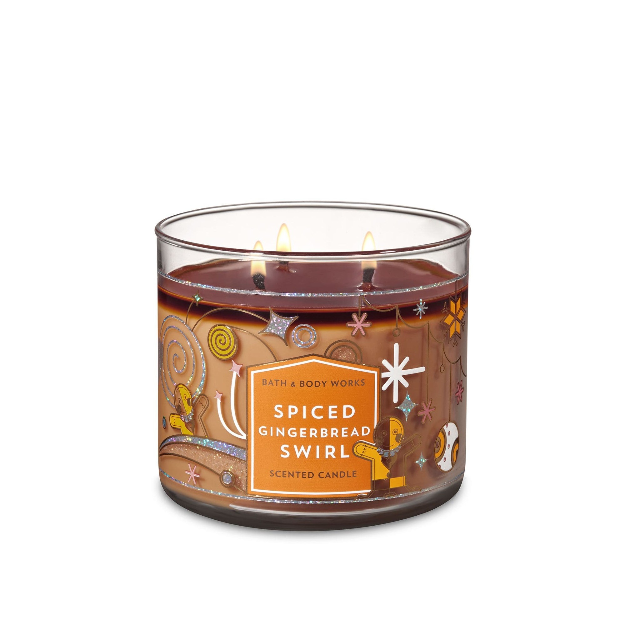 Bath & Body Works Spiced Gingerbread Swirl 3 Wick Scented Candle