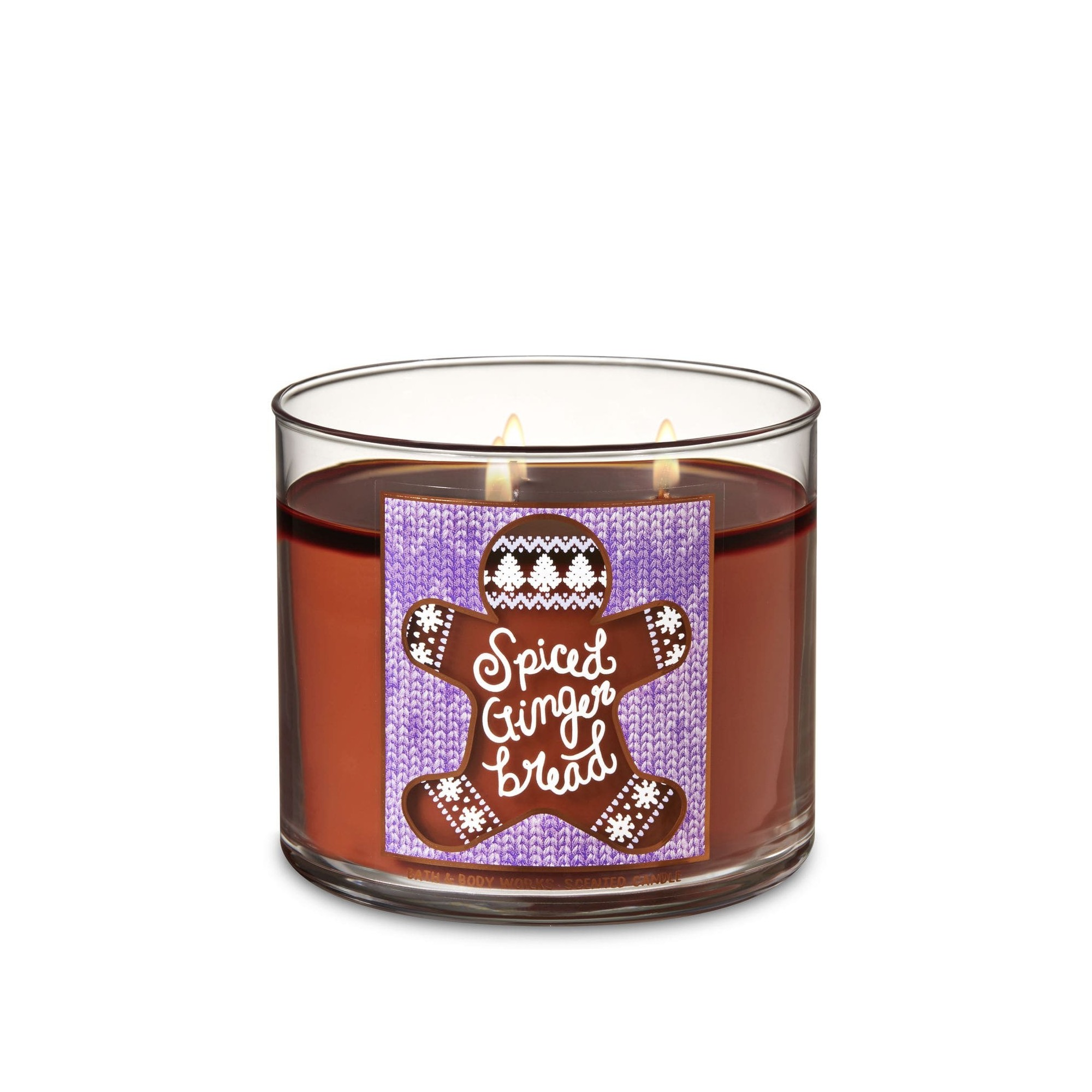 Bath & Body Works Spiced Gingerbread 3 Wick Scented Candle