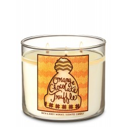 Bath & Body Works Orange Chocolate Truffle 3 Wick Scented Candle