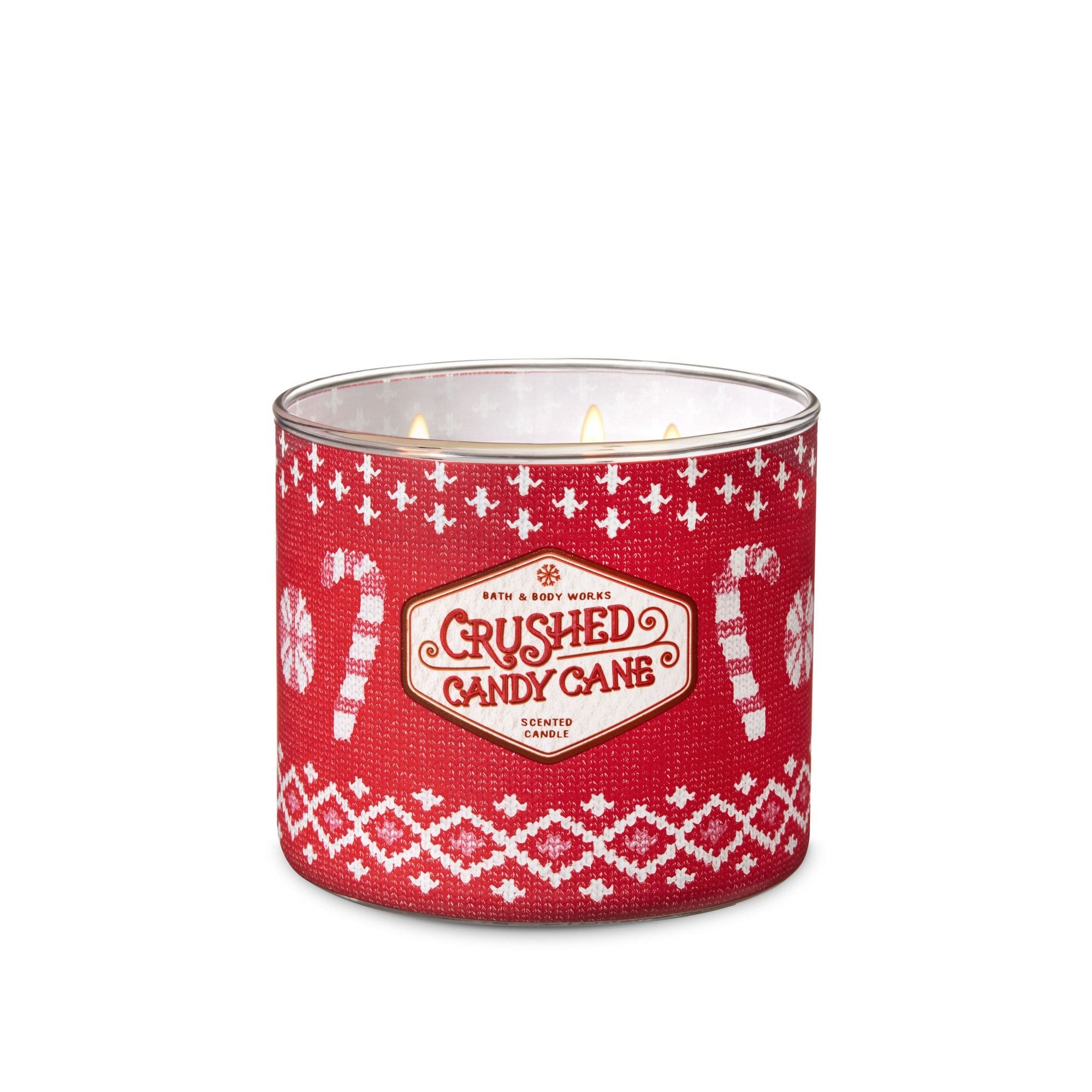Bath & Body Works Crushed Candy Cane 3 Wick Scented Candle