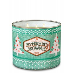 Bath & Body Works Peppermint Brownie 3 Wick Scented Candle