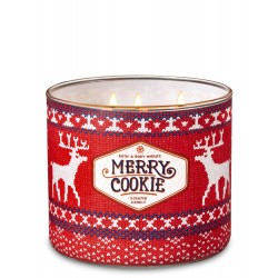 Bath & Body Works Merry Cookie 3 Wick Scented Candle
