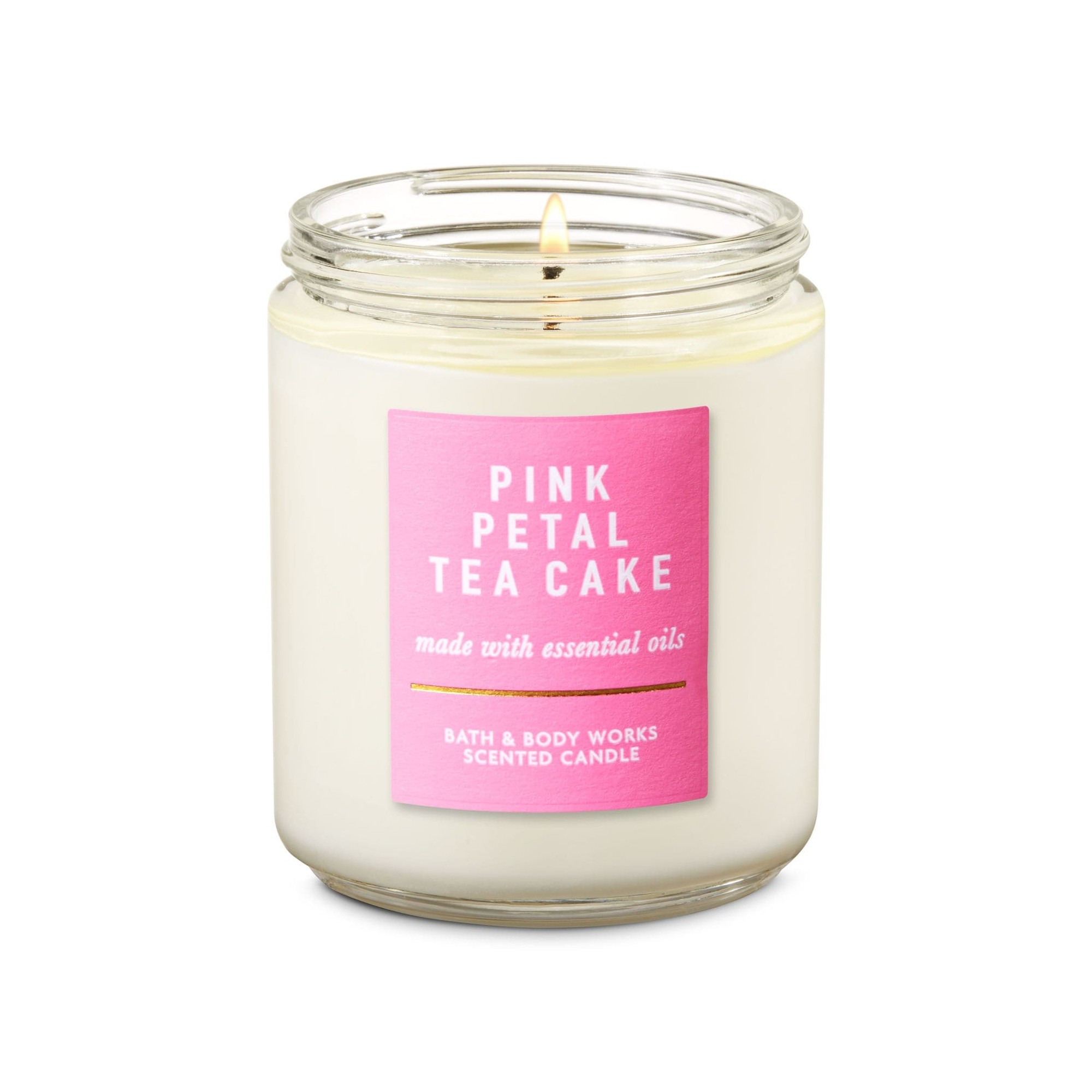 Bath & Body Works Pink Petal Tea Cake Scented Candle