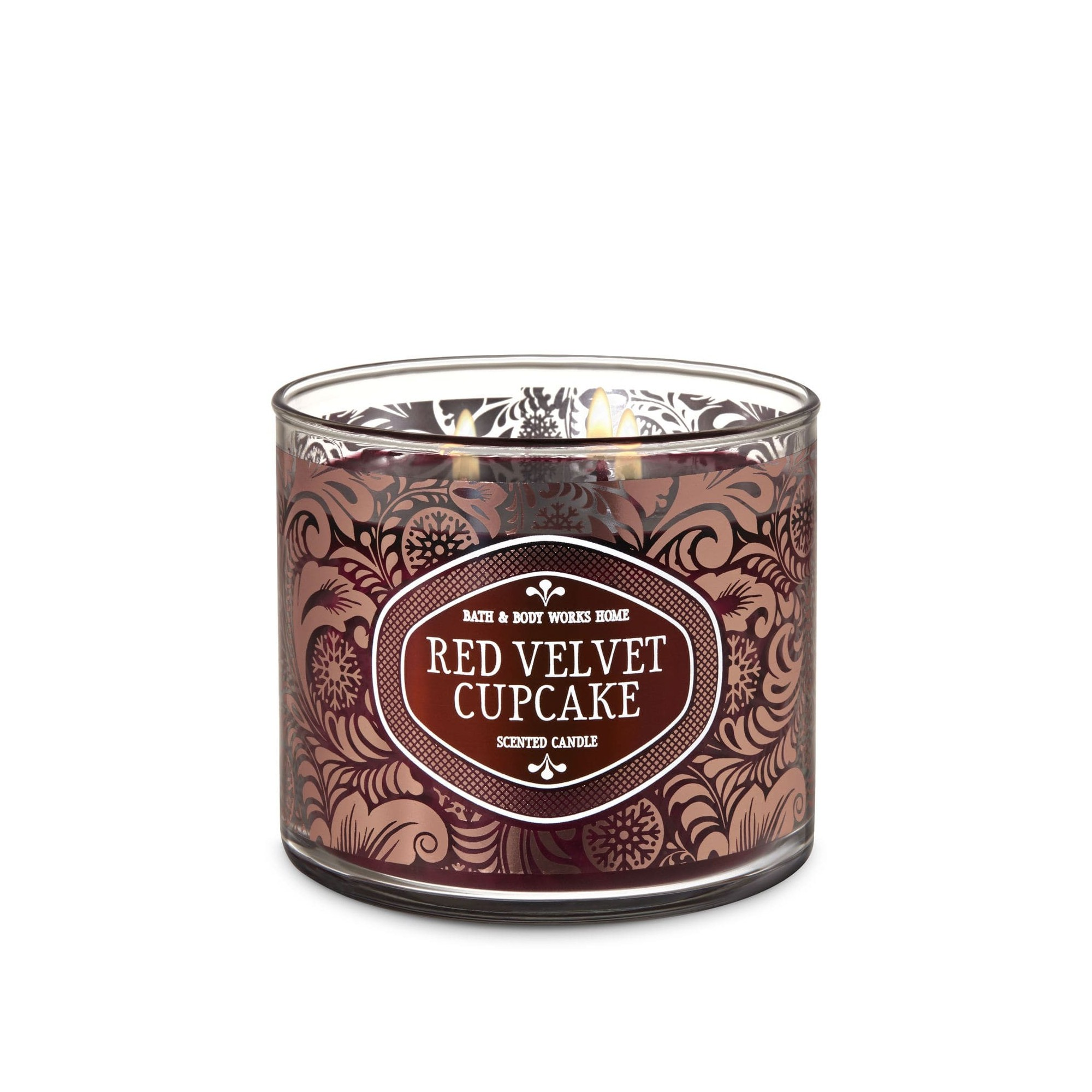 Bath & Body Works Red Velvet Cupcake 3 Wick Scented Candle