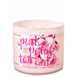 Bath & Body Works Pink Petal Tea Cake 3 Wick Scented Candle