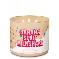 Bath & Body Works Banana Split Milkshake 3 Wick Scented Candle