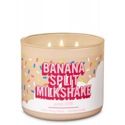 Bath & Body Works Banana Split Milkshake 3 Wick Scented Candle