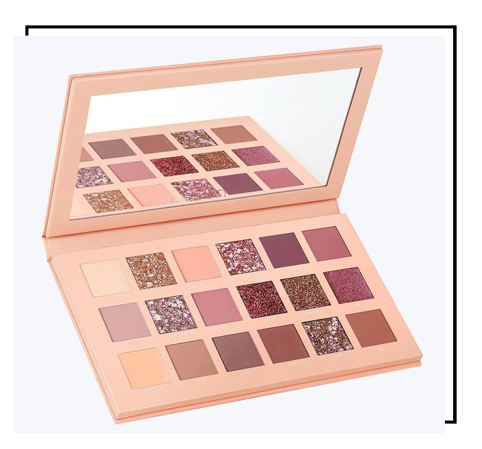 Huda Beauty New Nude Palette Holiday 2018 Noel Cadeau Nouvelle Palette Fards a paupieres