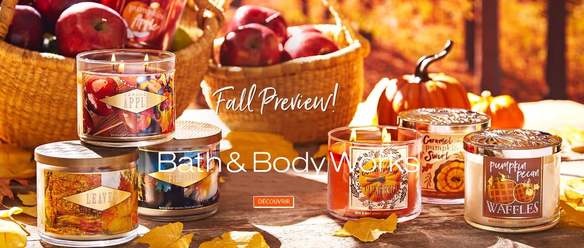 Bath & Body Works Fall Nouveauté Automne Bougies Parfumées 3 Mèches Parfum D ambiance