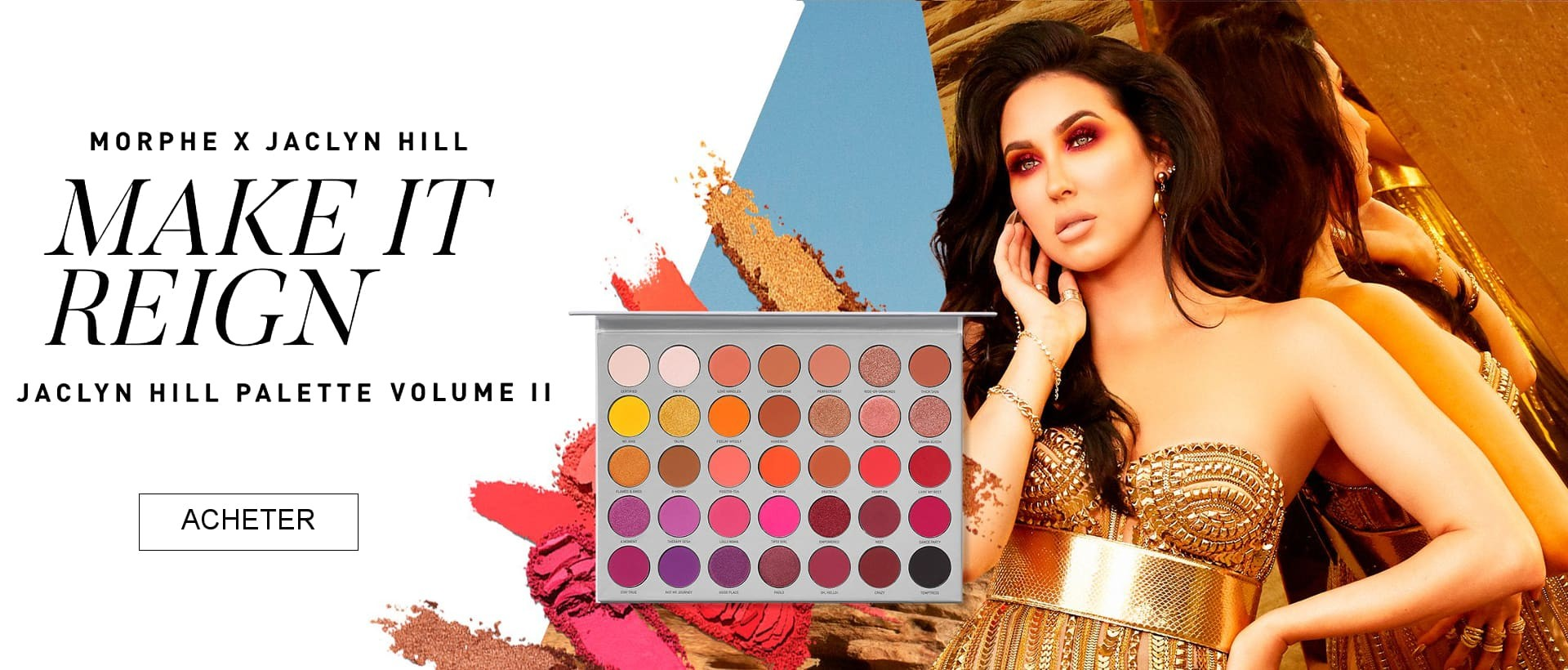 Morphe x Jaclyn Hill Eyeshadow Palette Volume II Fards A Paupieres Master Remix Brush Collection